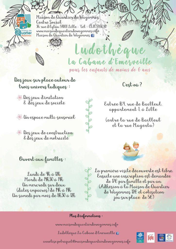 affiche de ludothèque de wazemmes